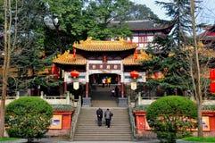 Sui Ning Kina: Guang De Si Buddhist Temple arkivfoton