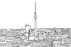 Sui tetti dello scarabocchio di Berlino Immagine Stock
