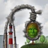 Suicídio ambiental ilustração royalty free