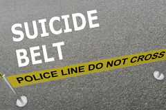 Suicide Belt concept Royalty Free Stock Images