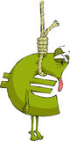 Suicide is the euro. The euro sign in the loop, vector Royalty Free Stock Photo