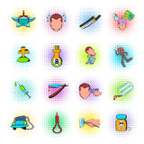 Suicide icons set Royalty Free Stock Photography