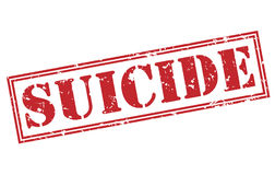 Suicide red stamp Royalty Free Stock Photo