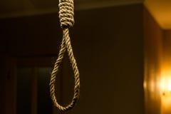 Suicide rope loop. Suicide noose concept stock image