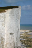 Suicide spot. At beachy head, sussex England Royalty Free Stock Image