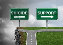 Suicide and support Stock Photography