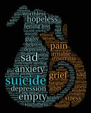 Suicide Word Cloud Stock Photo