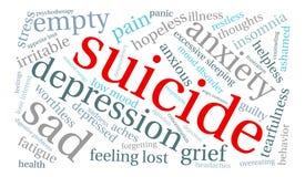 Suicide Word Cloud Stock Photos