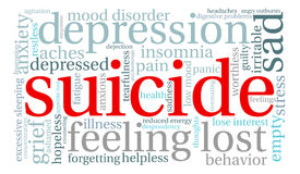 Suicide Word Cloud Stock Images