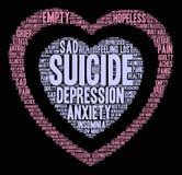 Suicide Word Cloud Stock Photo