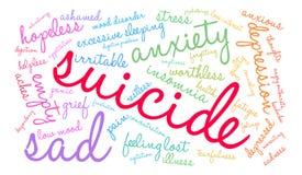 Suicide Word Cloud Stock Image