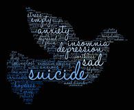 Suicide Word Cloud Stock Photography