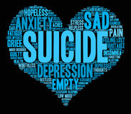 Suicide Word Cloud Royalty Free Stock Photography