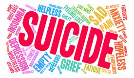 Suicide Word Cloud Royalty Free Stock Images