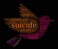 Suicide Word Cloud Royalty Free Stock Photos