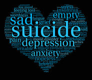 Suicide Word Cloud Royalty Free Stock Image