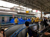 Suicidio sul treno fotografie stock