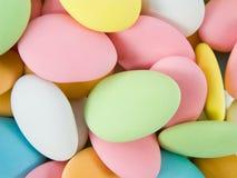 Suiker behandelde amandelen stock afbeelding