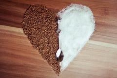 Suiker en Koffie Stock Afbeeldingen