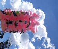 Suiker katoenen wolk stock fotografie