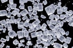 Suiker onder microscopische mening Royalty-vrije Stock Foto's
