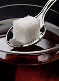 Suiker in thee royalty-vrije stock foto's