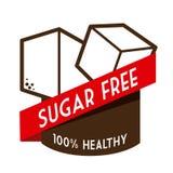 Suiker vrij ontwerp Stock Afbeeldingen