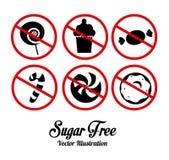 Suiker vrij ontwerp Stock Fotografie