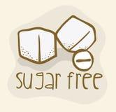 Suiker vrij ontwerp Stock Afbeelding