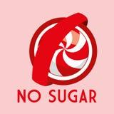 Suiker vrij ontwerp stock illustratie