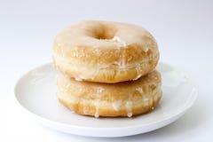 Suikerachtige doughnut   Stock Afbeeldingen