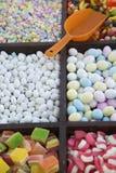 Suikergoed in Bakken op de Kar van de Straatventer Royalty-vrije Stock Afbeelding