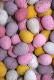 Suikergoed behandelde chocoladeeieren Royalty-vrije Stock Foto