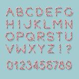 Suikergoed Cane Font royalty-vrije illustratie