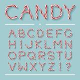 Suikergoed Cane Font - Brieven vector illustratie