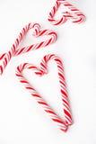 Suikergoed Cane Heart Stock Foto's