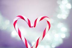 Suikergoed Cane Heart Royalty-vrije Stock Afbeelding
