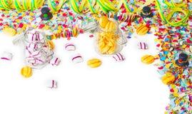 Suikergoed, confettien, partij Stock Afbeelding