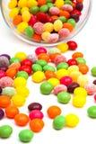 Suikergoed in een glaskruik Stock Foto