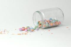 Suikergoed in een kruik Stock Foto