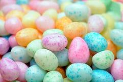 Suikergoed in eivorm voor de dag van Pasen Royalty-vrije Stock Afbeeldingen