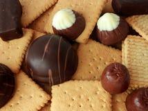 Suikergoed en koekje stock foto's