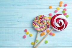 Suikergoed en lollys stock foto