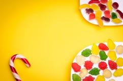 Suikergoed en overvloed van fruitgelei Royalty-vrije Stock Afbeelding