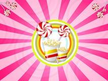 Suikergoed en popcorn Stock Foto