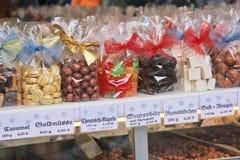 Suikergoed in giftpakket royalty-vrije stock afbeelding