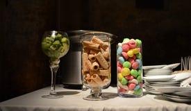Suikergoed klaar voor chocoladedouche Stock Fotografie