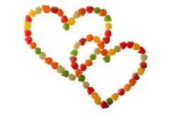 Suikergoed in liefdevorm Royalty-vrije Stock Foto