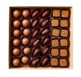 Suikergoed met de hand gemaakt in een doos Stock Foto's