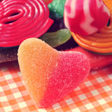 Suikergoed, met een retro effect Royalty-vrije Stock Foto